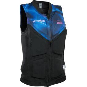 ION Lunis Dame Frontzip Wakeboard Vest (Svart/Blå)