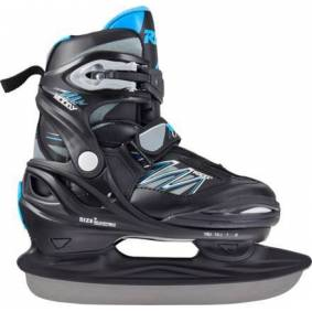 Roces Moody Ice 2.0 Justerbar Kids Ice Skates (Black-astro Blue)