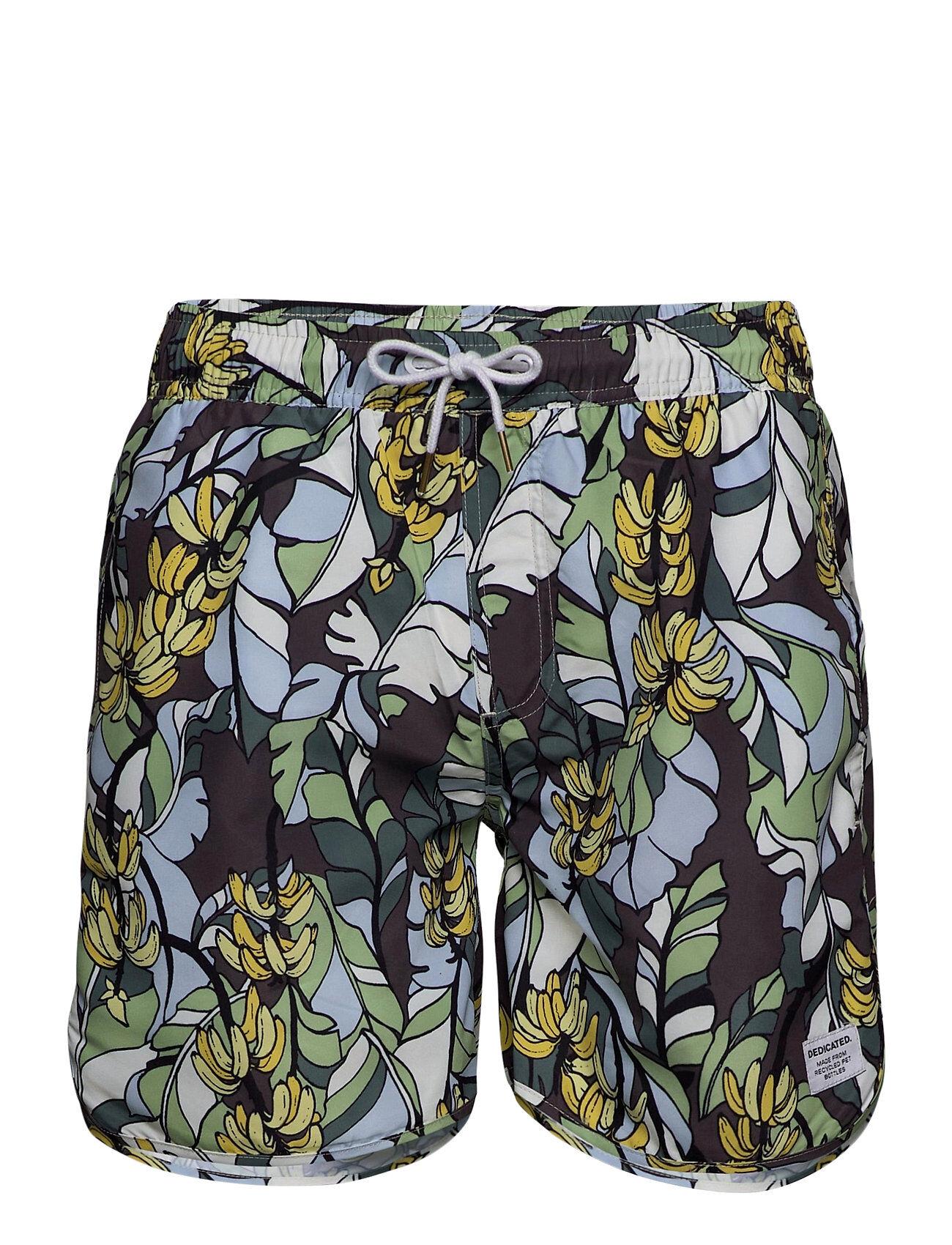 DEDICATED Swim Shorts Banana Leaves Badeshorts Grønn DEDICATED