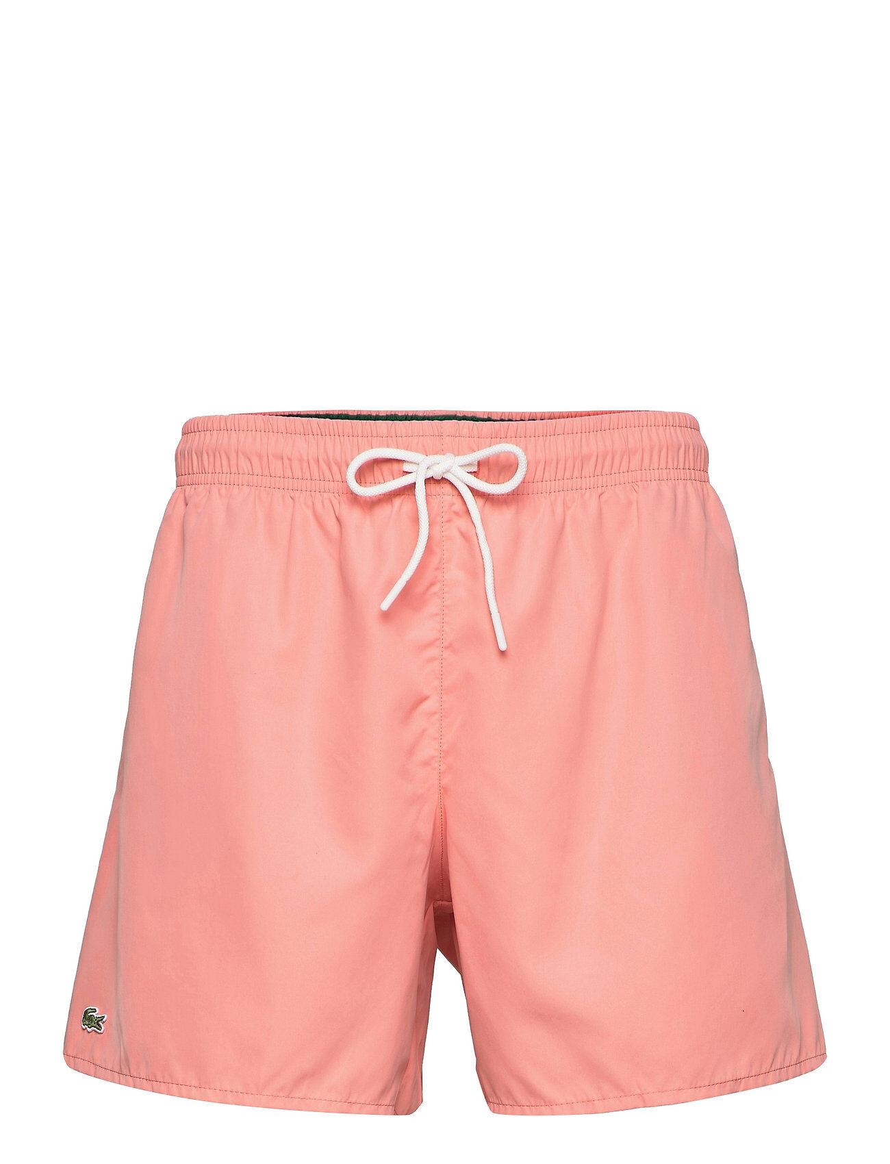 Lacoste Mens Swimwear Badeshorts Rosa Lacoste