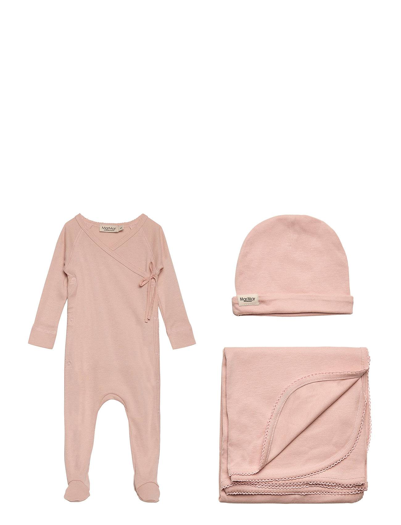 MARMAR CPH New Born Gift Box - Suit, Hat And Blanket Body Langermet Rosa MARMAR CPH