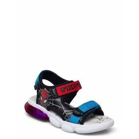 Spiderman Sandal With Lights Shoes Summer Shoes Sandals Svart Spiderman