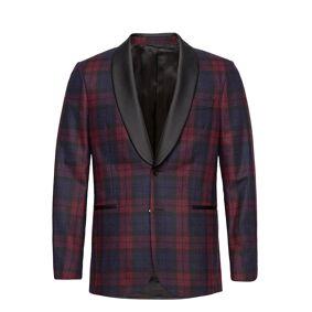 GANT D2. Slim Check Tuxedo Jacket Smoking Rød GANT