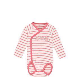 Polarn O. Pyret Body Wrapover Stripe Baby Bodies Long-sleeved Rosa Polarn O. Pyret