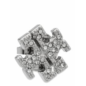 Tory Burch Kira Pave Stud Earring Accessories Jewellery Earrings Studs Sølv Tory Burch
