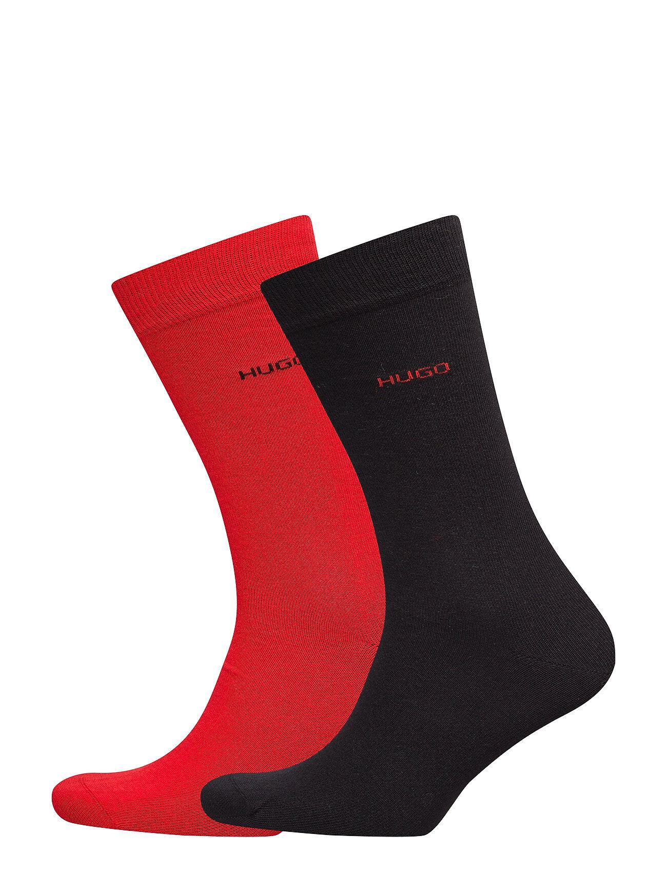 HUGO 2p Rs Uni Cc Underwear Socks Regular Socks Rød HUGO