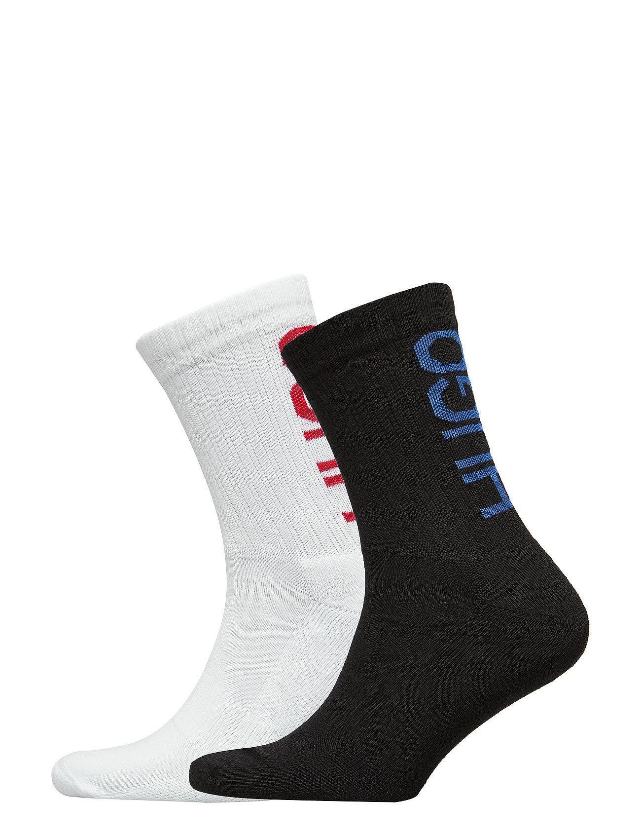 HUGO 2p Qs Back Logo Cc Underwear Socks Regular Socks Hvit HUGO
