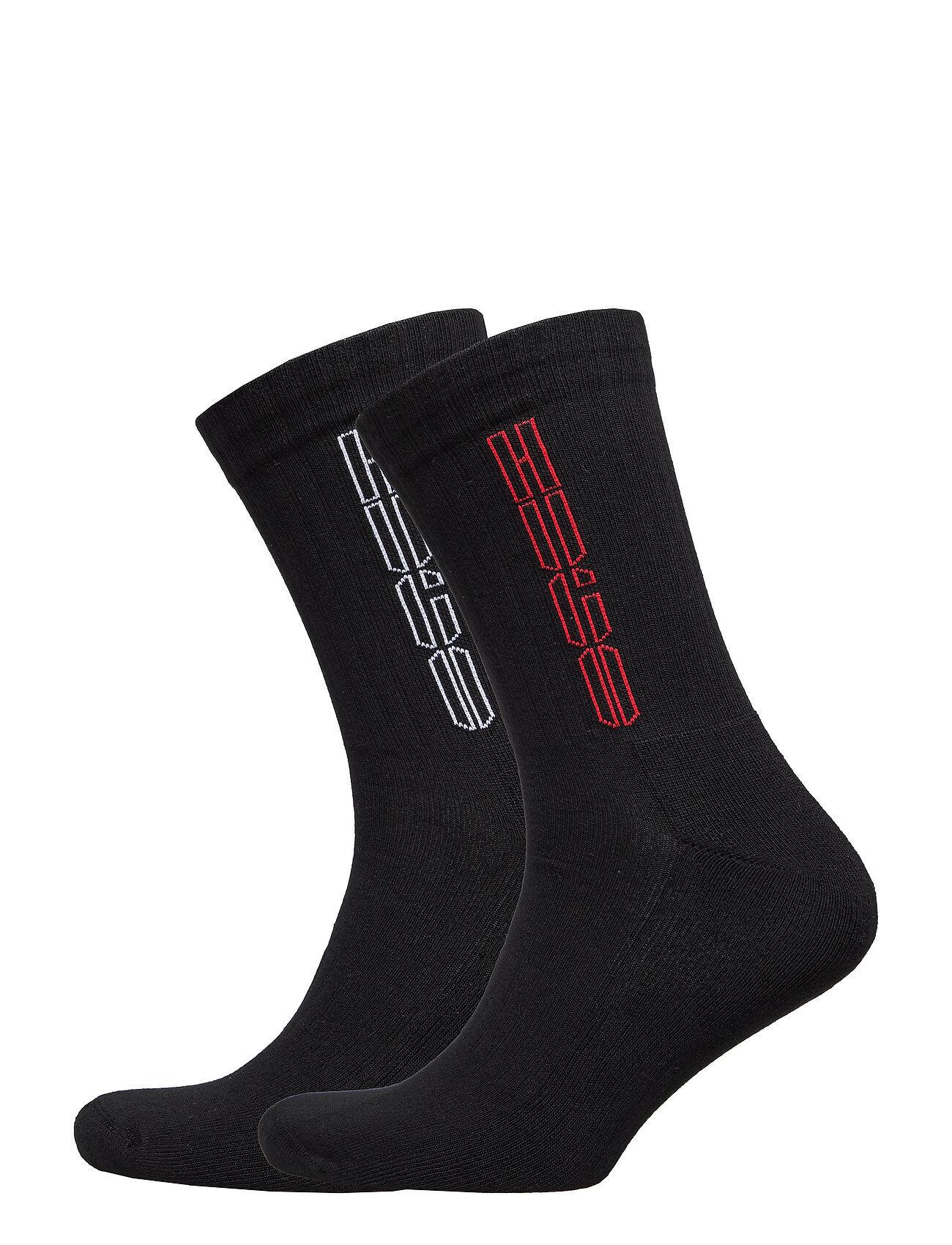 HUGO 2p Qs Rib Piano Cc Underwear Socks Regular Socks Svart HUGO