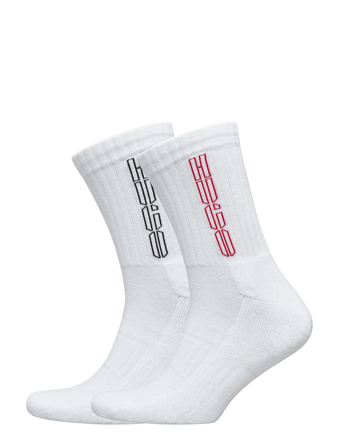 HUGO 2p Qs Rib Piano Cc Underwear Socks Regular Socks Hvit HUGO