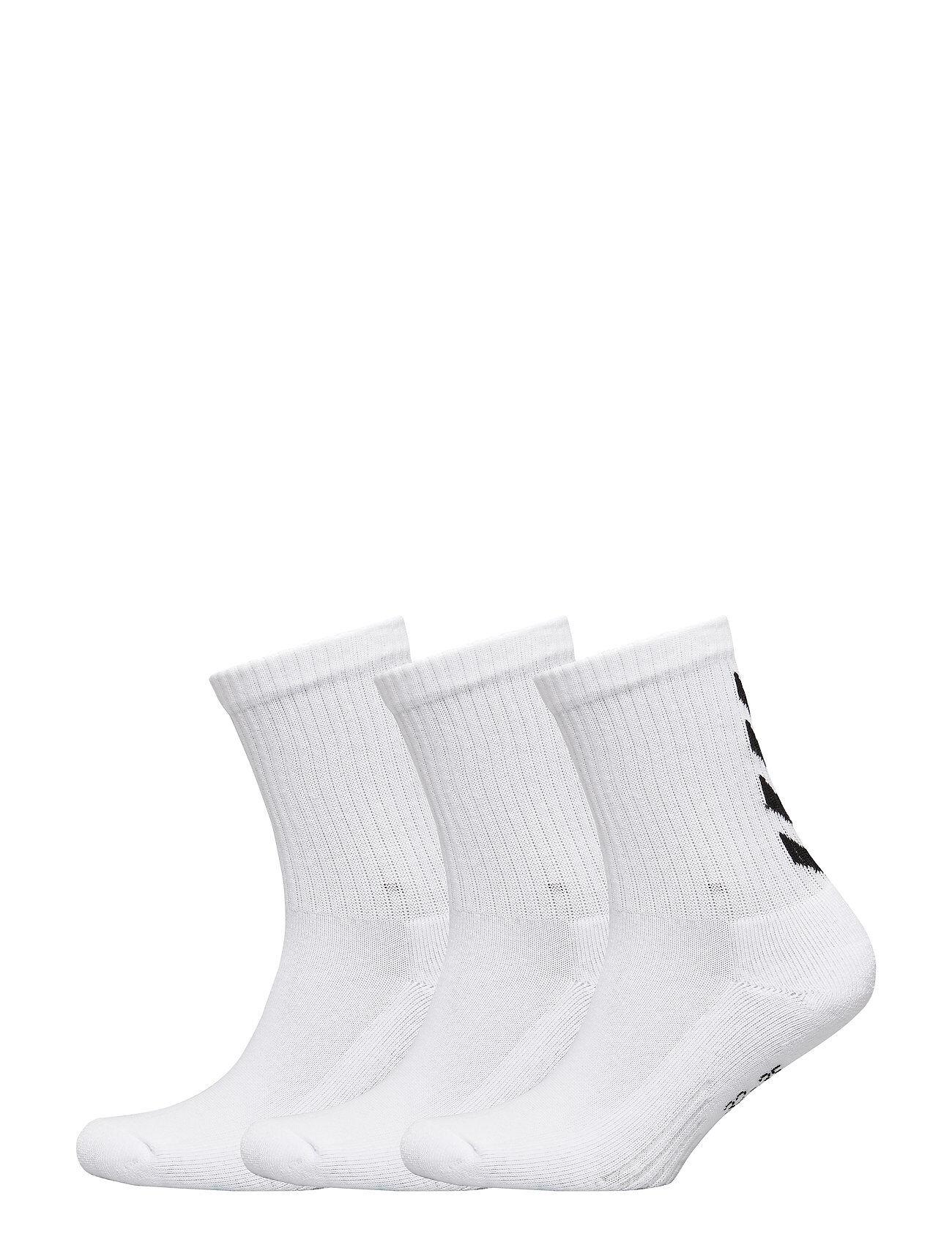 Hummel Fundamental 3-Pack Sock Underwear Socks Regular Socks Hvit Hummel