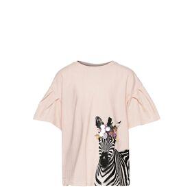 Mango Animals T-shirts Short-sleeved Creme Mango