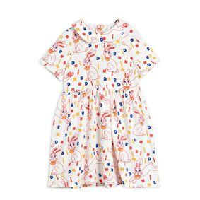 Mini Rodini Mr Rabbit Aop Ss Dress Kjole Creme Mini Rodini