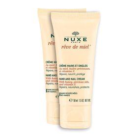 NUXE RÊVe De Miel Hand&Nail Duopack 2x50 Ml Beauty WOMEN Skin Care Body Hand Cream & Foot Cream Nude NUXE