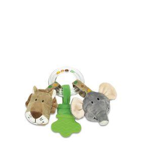 Teddykompaniet Diinglisar Wild Ringrattle Lion & Elephant Play Time Toys Baby Toys Grå Teddykompaniet