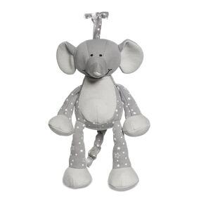 Teddykompaniet Diinglisar Organic Stars Musical Elephant Play Time Toys Soft Toys Grå Teddykompaniet