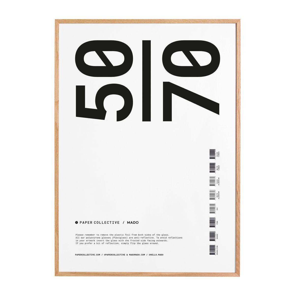 Paper Collective ramme plexiglass-eik 50x70 cm