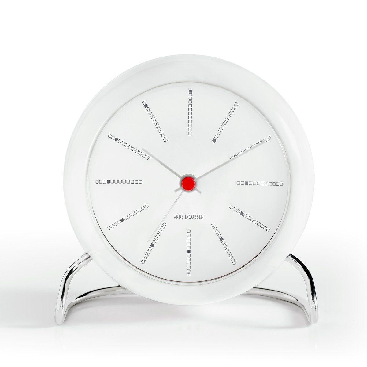 Arne Jacobsen Clocks AJ Bankers bordklokke hvit