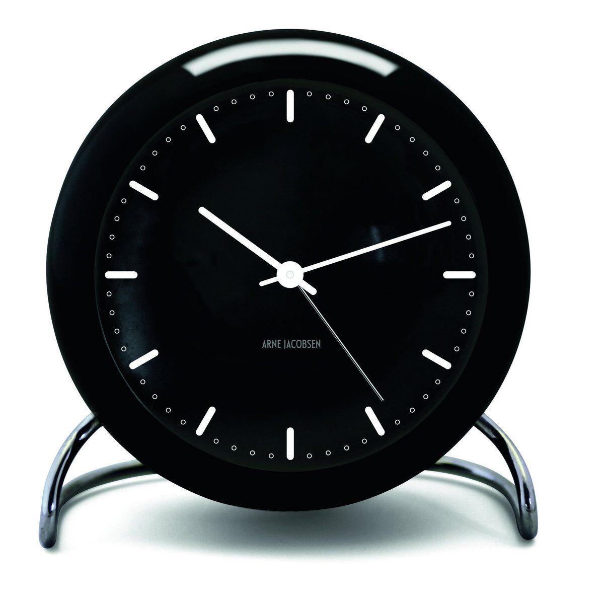 Arne Jacobsen Clocks AJ City Hall bordklokke sort