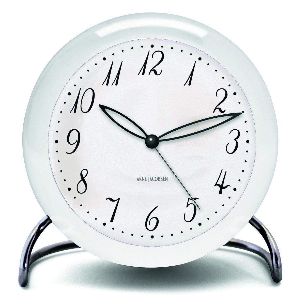 Arne Jacobsen Clocks AJ LK bordklokke hvit