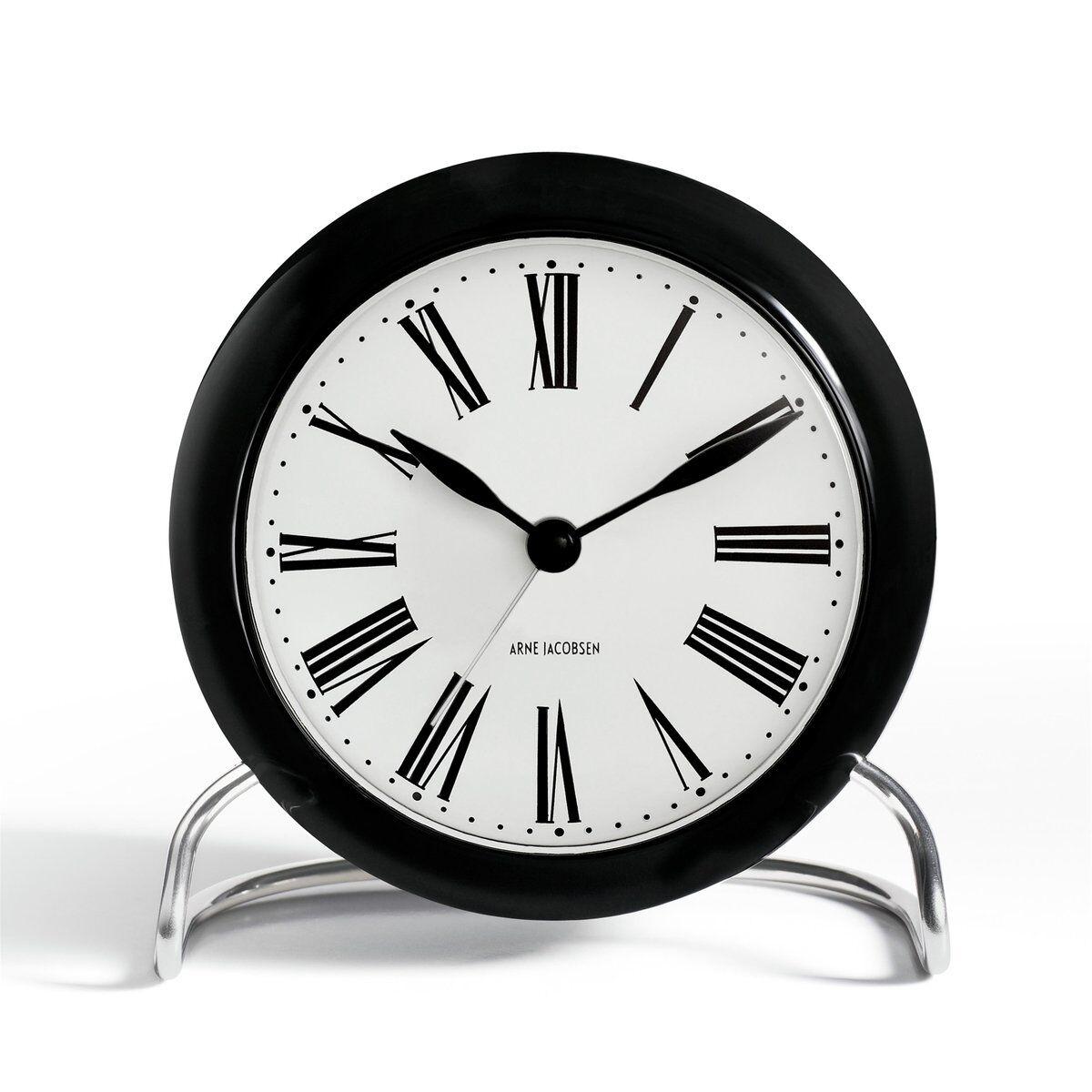 Arne Jacobsen Clocks AJ Roman bordklokke svart