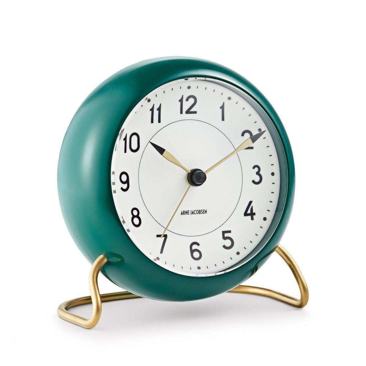 Arne Jacobsen Clocks AJ Station bordklokke grønn grønn