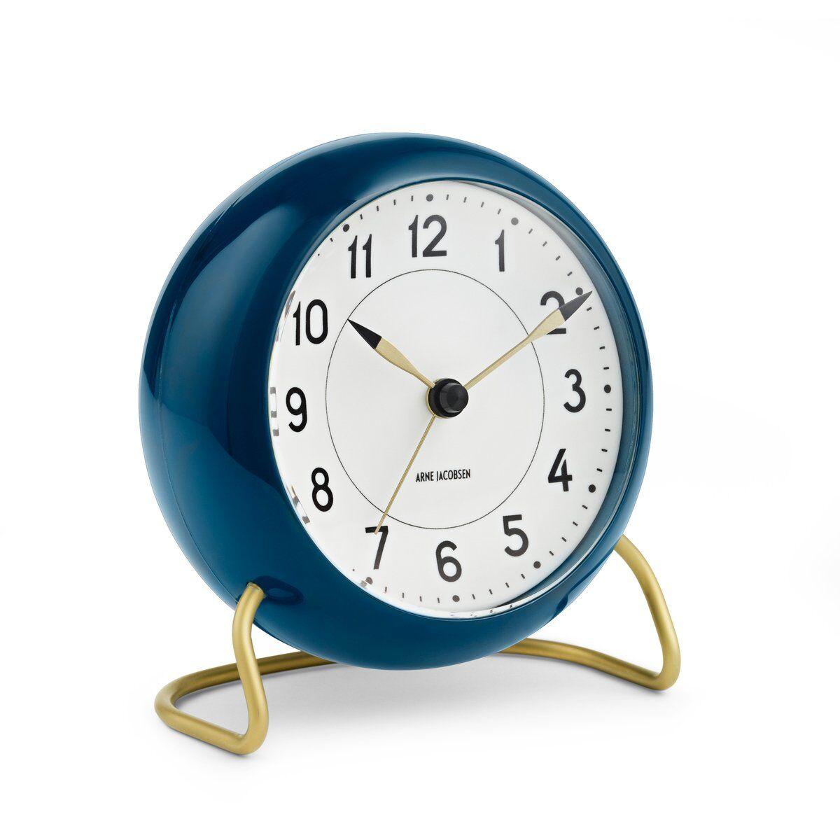 Arne Jacobsen Clocks AJ Station bordklokke petrolblå petrolblå