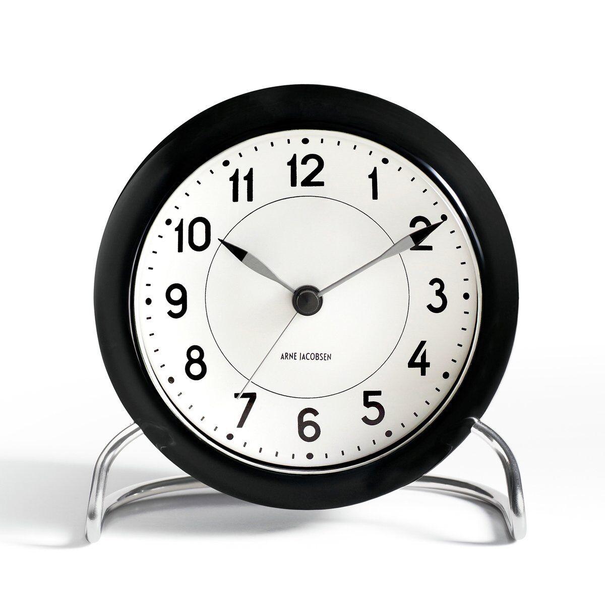 Arne Jacobsen Clocks AJ Station bordklokke svart