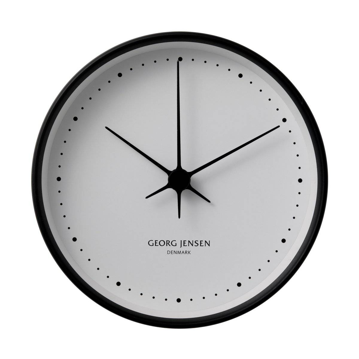 Jensen Koppel veggur sort-hvitt Diameter 22 cm