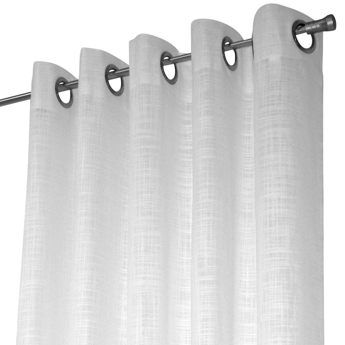Arvidssons Textil Norrsken gardinlengde med maljer hvit