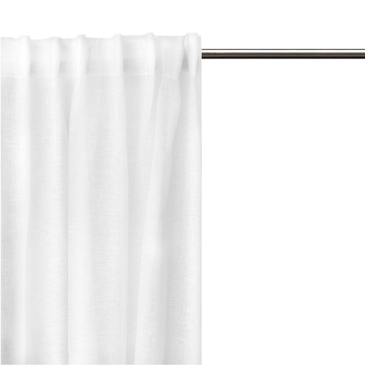 Himla Dalsland gardin med leggbånd optical white