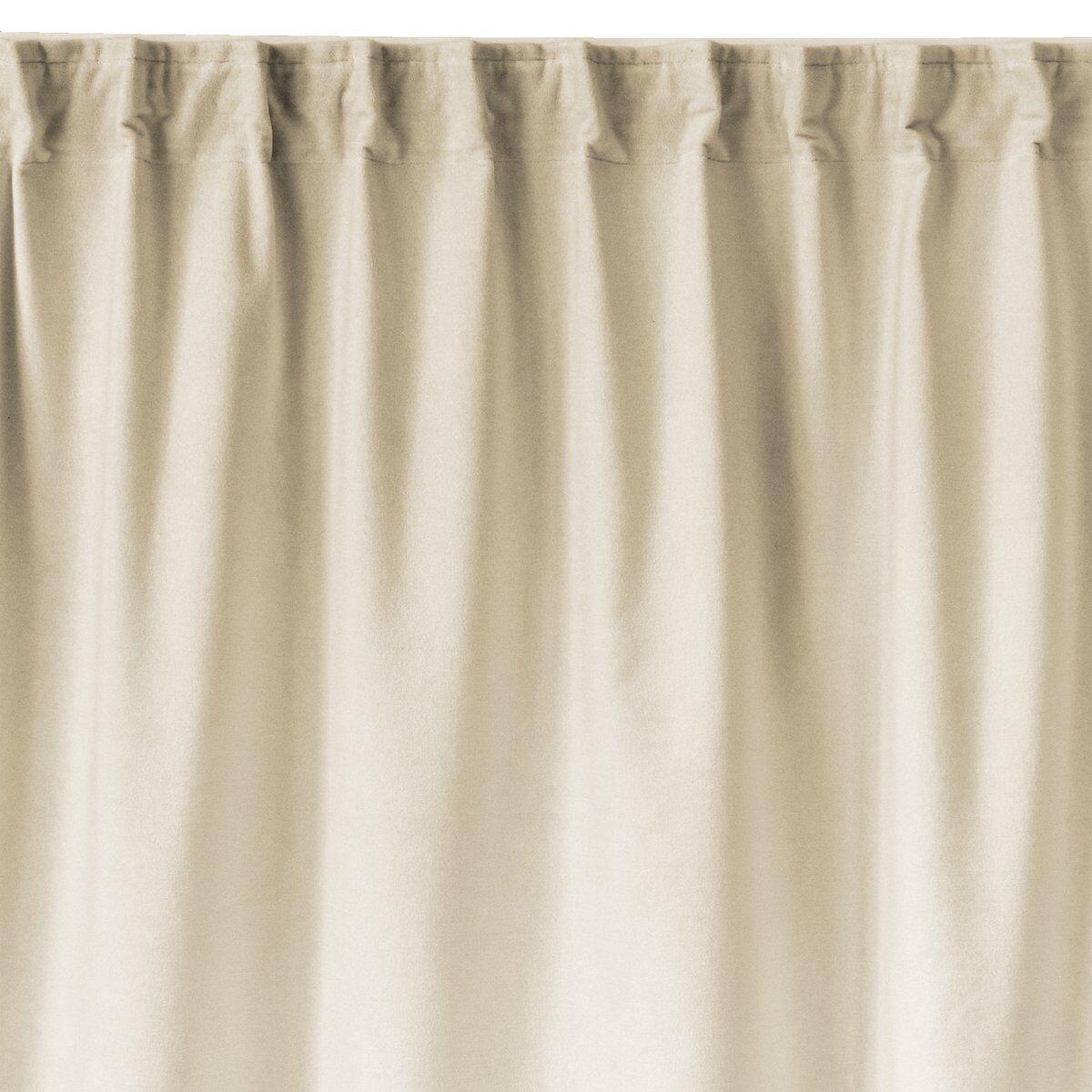 Linum Paolo gardin med rynkebånd Gräddig beige
