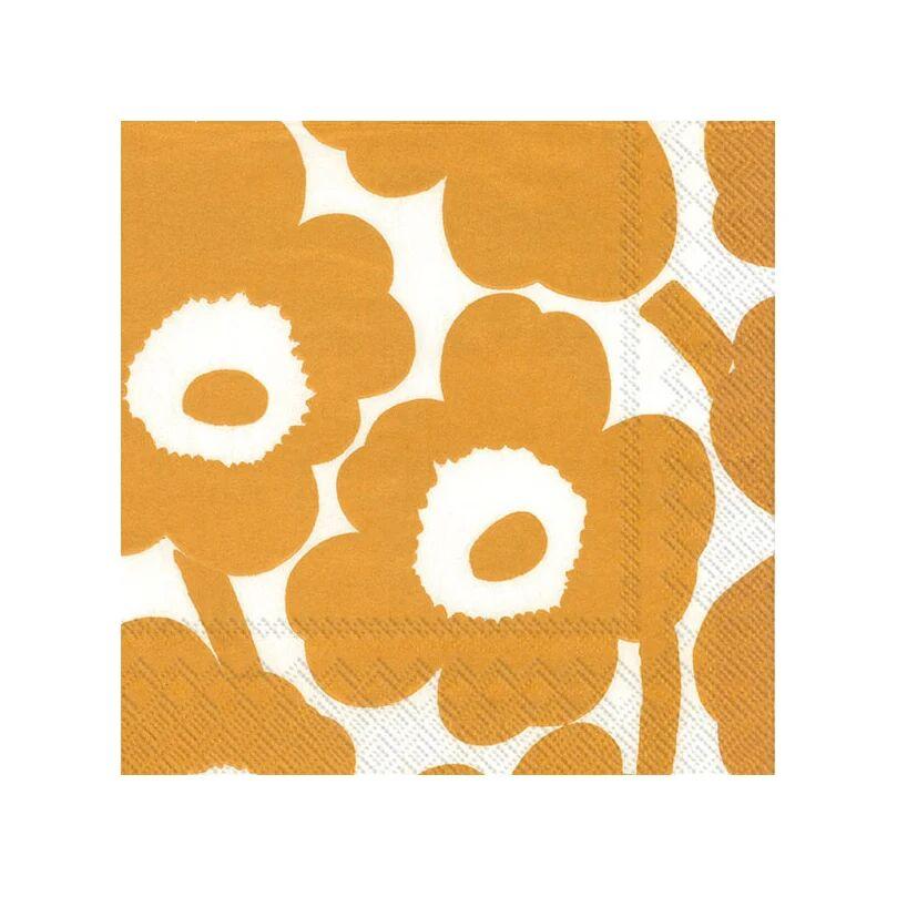 Marimekko Unniko serviett 33x33 cm 20-pakning White-gold