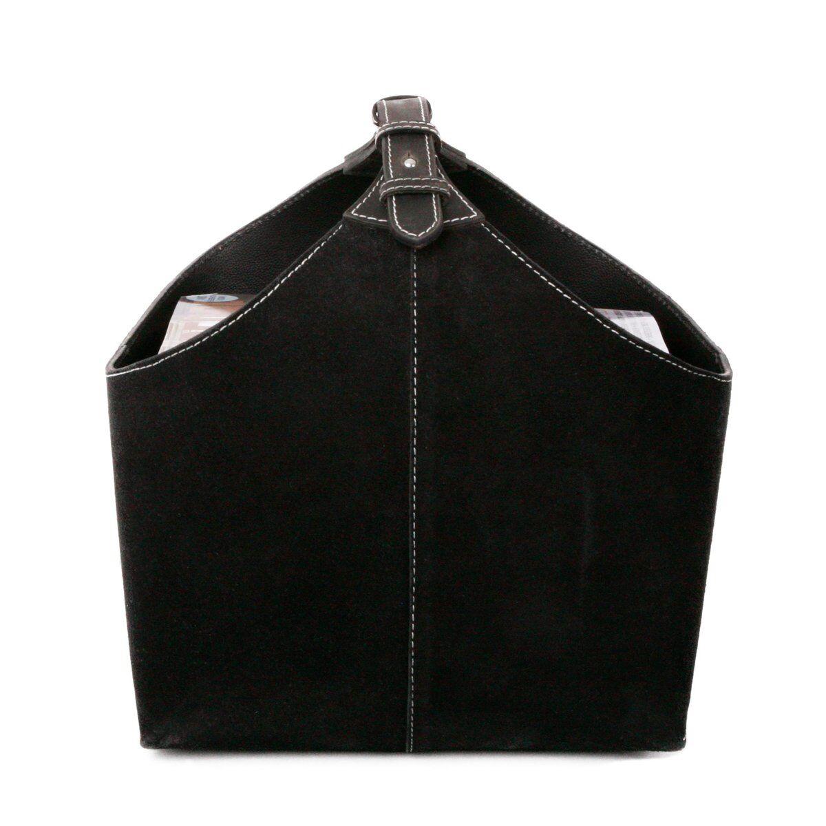 Ørskov aviskurv semesket skinn svart