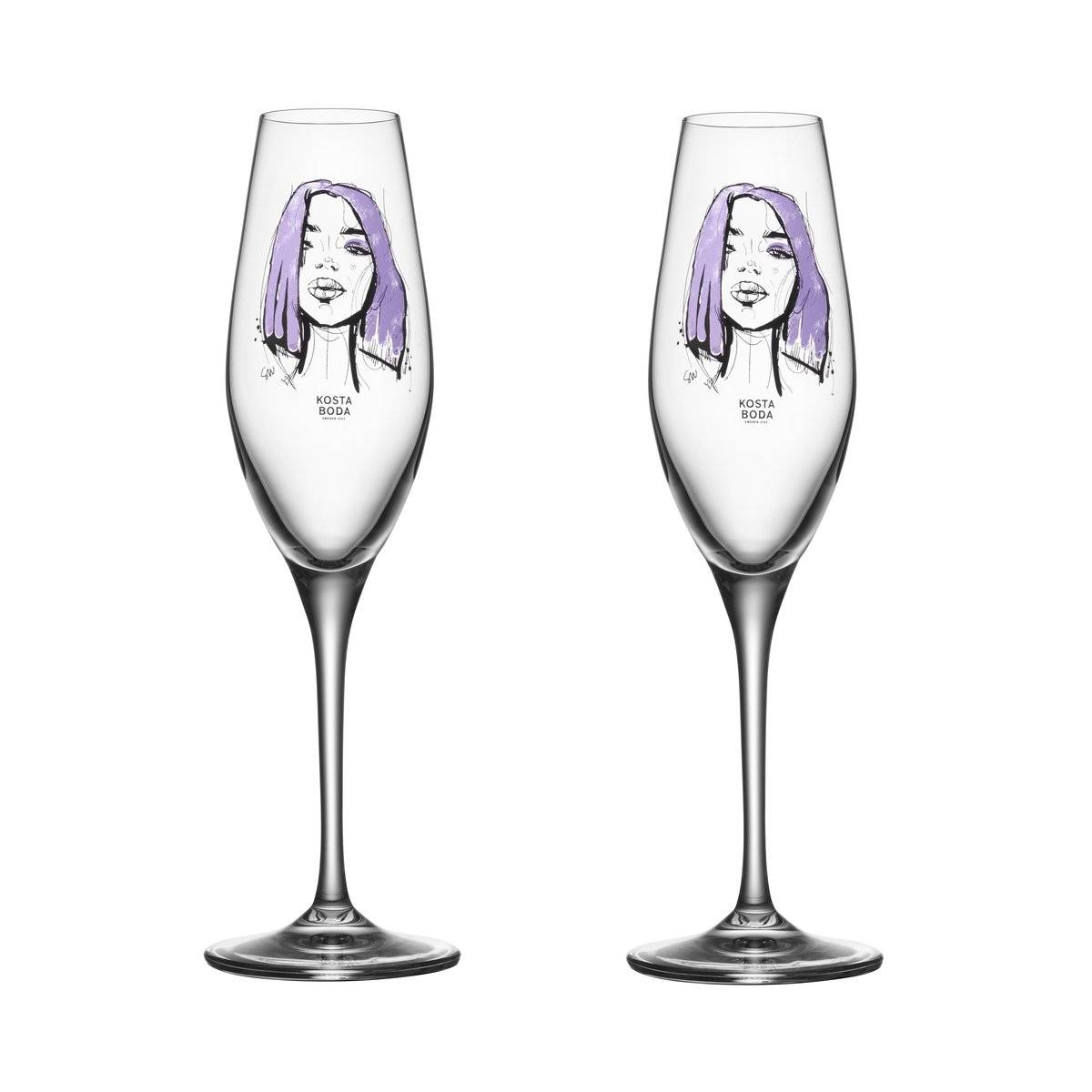 Kosta Boda All about you champagneglass 2-stk. Forever Mine