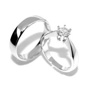 SPESIALPRIS! Forlovelsesringer / Gifteringer med diamanter 0.50