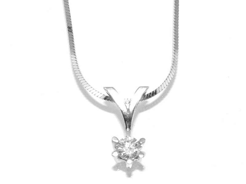 Spesialpris! Diamantanheng med diamanter 0.15 w.si (585)