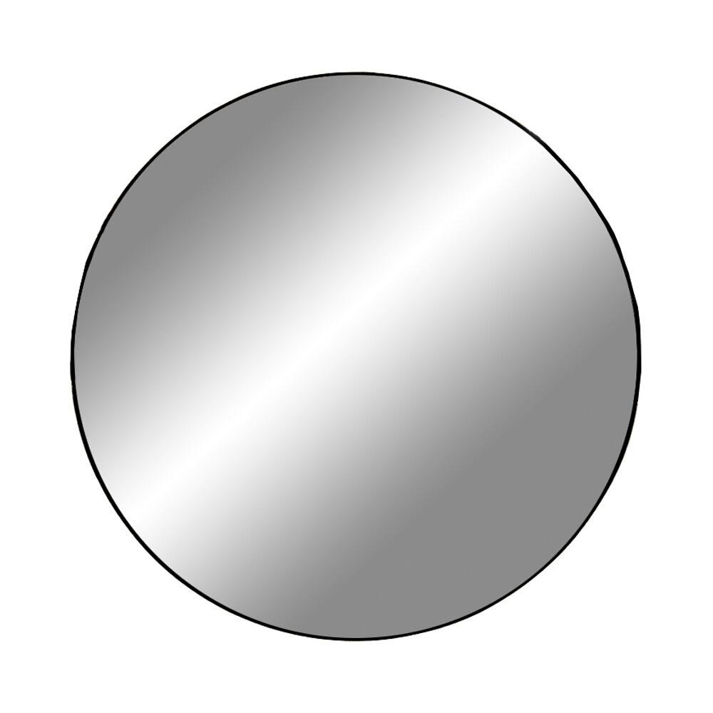 Jeanne speil Ø80 cm svart.