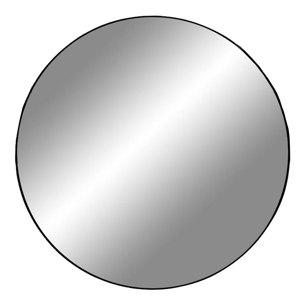 Jeanne speil Ø100 cm svart.