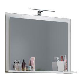 VCB10 Mini speilskap baderom , badespeil med 1 hylle hvit.
