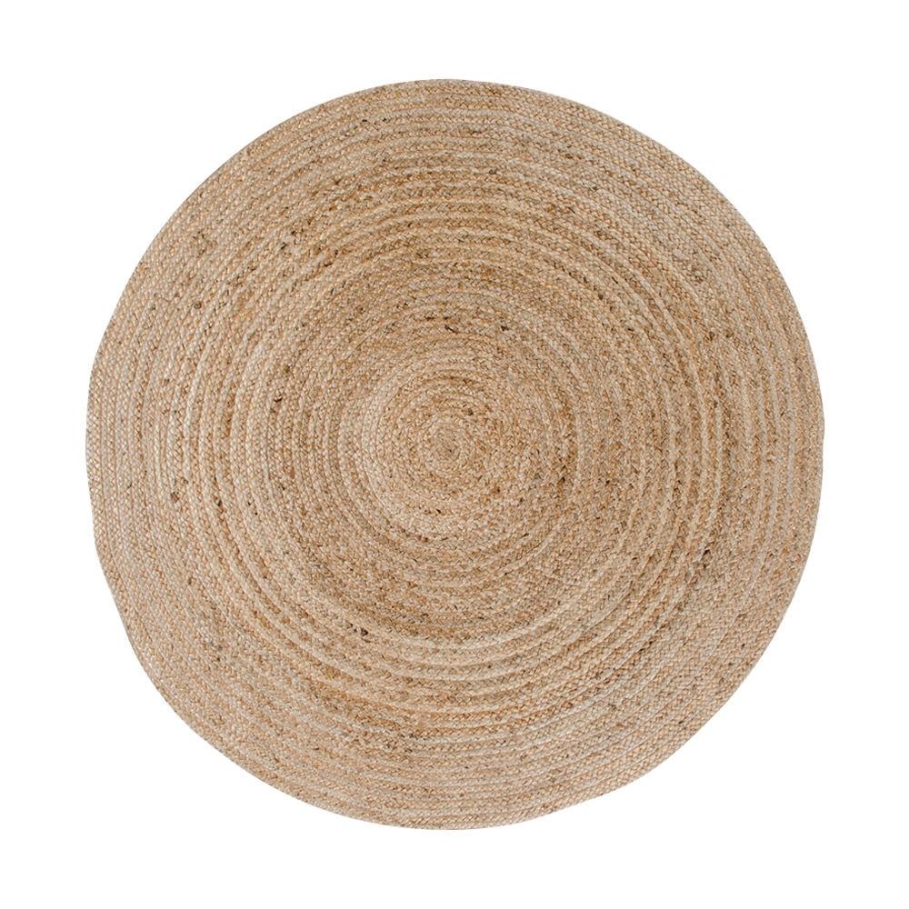 Broom teppe rundt Ø150 cm i jute natur.