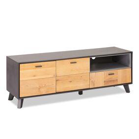 Seth TV-bord 2 dører, 1 rom, 1 skuff grå, eik.