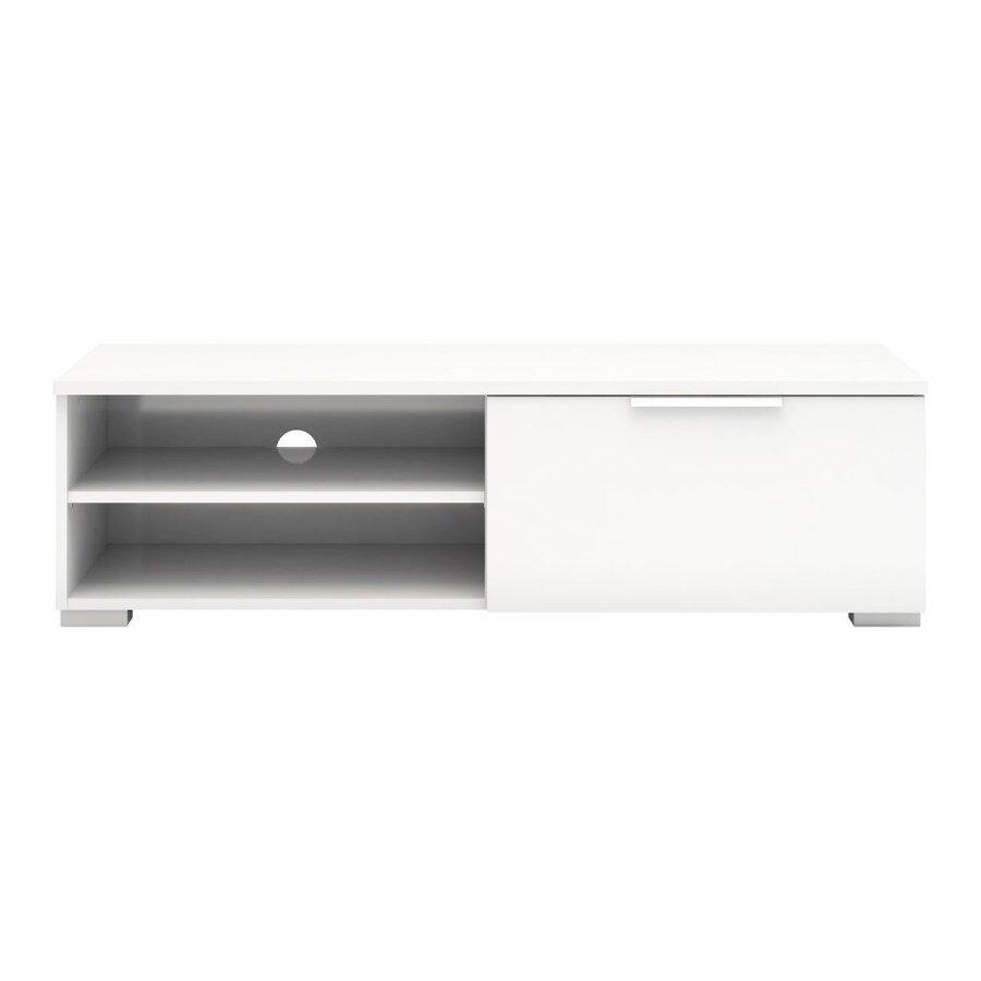 Malika tv-benk hvit høyglans.