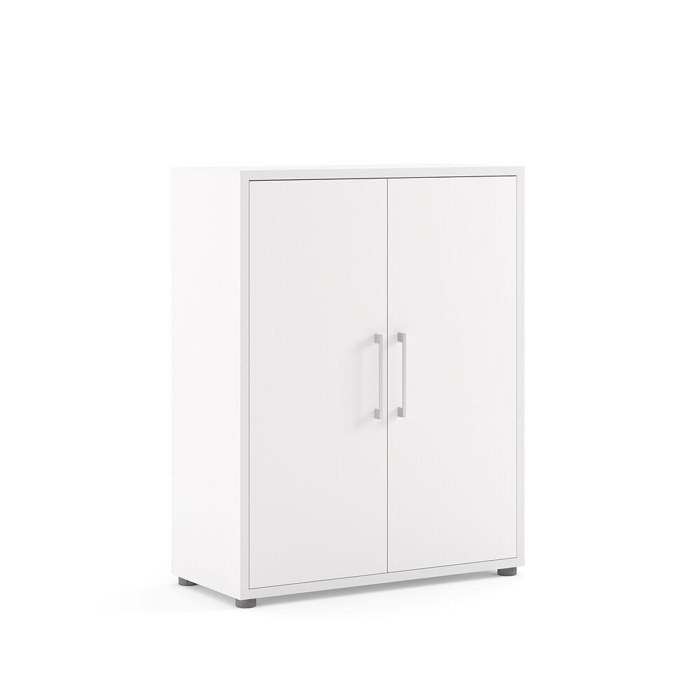 Prisme kontorhyller 2 dører hvit.