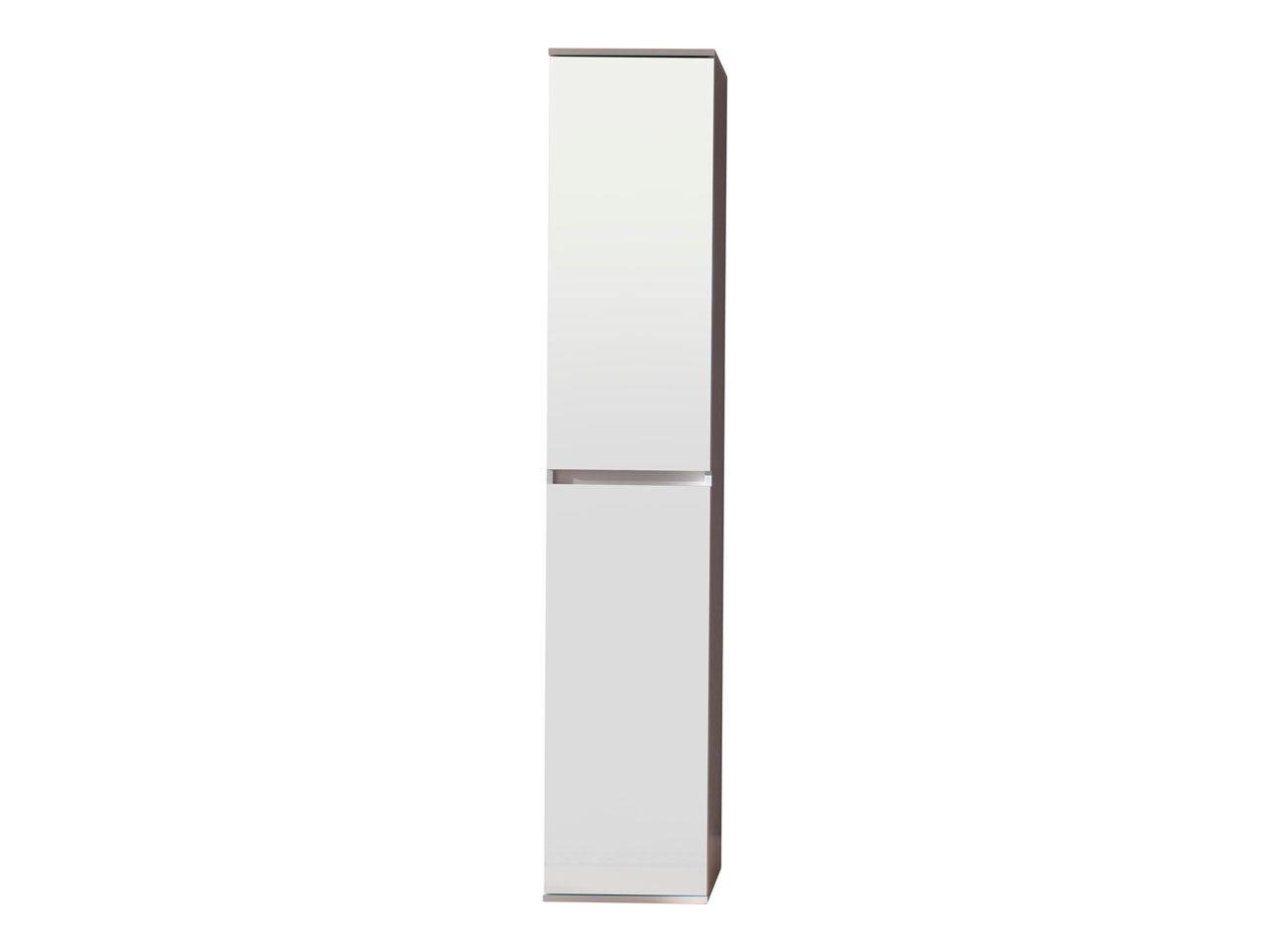 Minor garderobeskap 2 dører, hvit, speil.