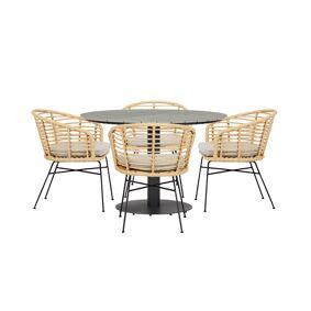 Hector hagegruppe bord og 4 Kaja stoler.