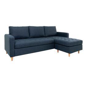 Firenze sjeselong sofa, blå.