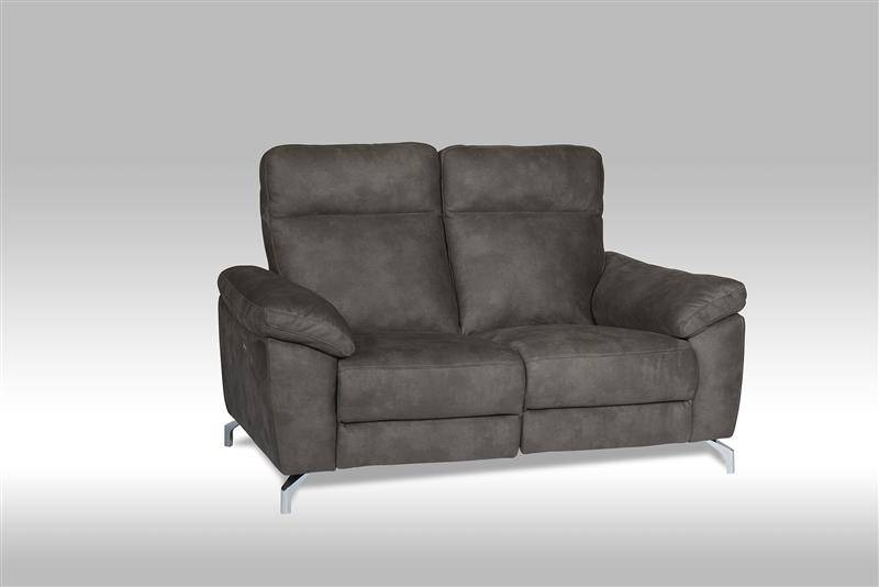 Sena sofa 2 seter recliner med motor i brun stoff.