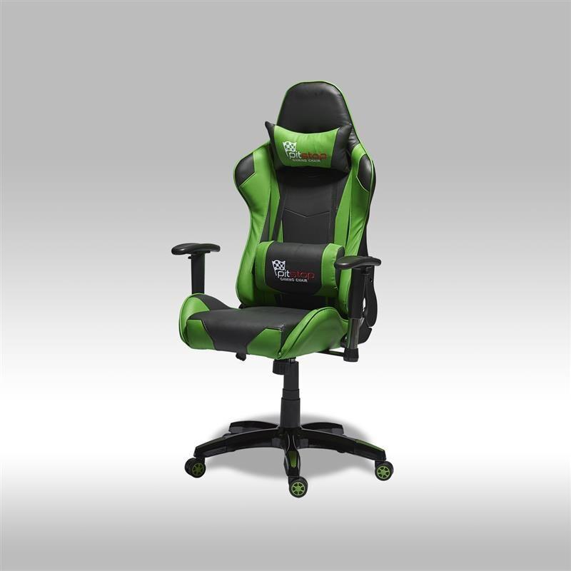 Gamer stol Wild kontorstol i grønn og svart PU kunstskinn.