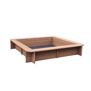 Oliver & Kids Sandbox Square 117*117*21,5 cm Brown