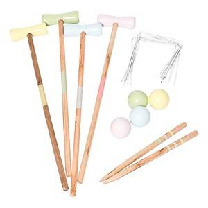 Oliver & Kids Wooden Croquet Game in Pastel Color 3+ years